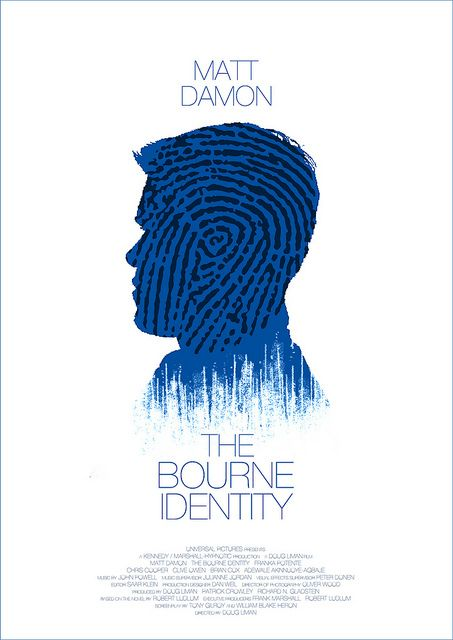Minimalist Movie Poster: The Bourne Identity