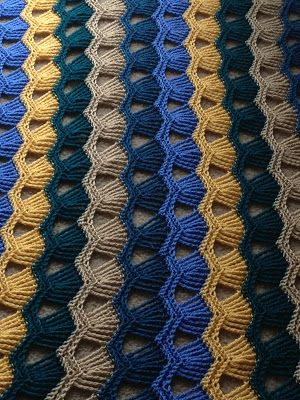 Pontos em crochê duas cores