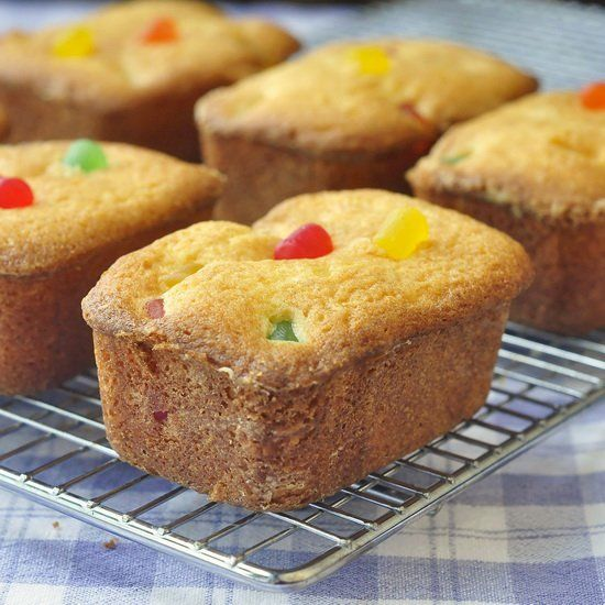 Crinkle cakes are little loaf shaped pound cakes I remember from childhood here in Newfoundland. This recipe was my attempt to replicate the gumdrop version.