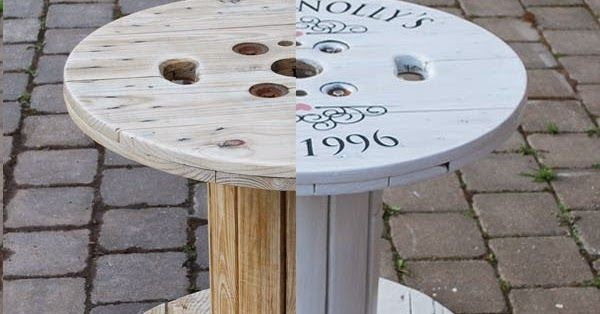 Today I completed my first Pinterest DIY and turned a wire wooden spool into a personalized coffee table. I started by sanding the ...