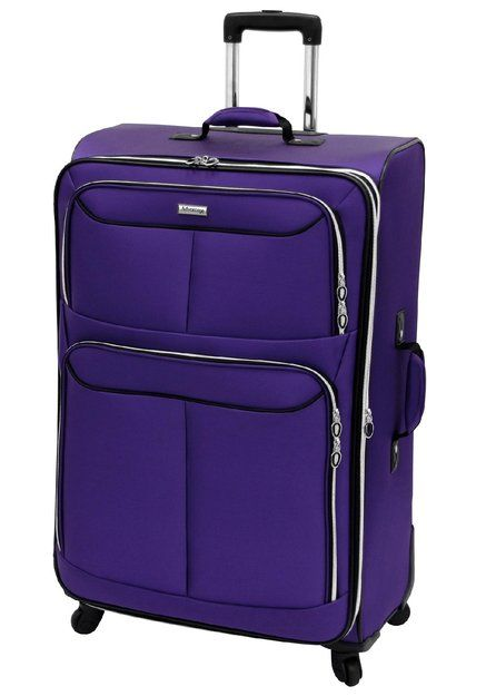 I'm learning all about Leisure Luggage, Inc. Leisure Luggage Flight 360 Collection - 30in Purple Upright Suitcase at @Influenster!