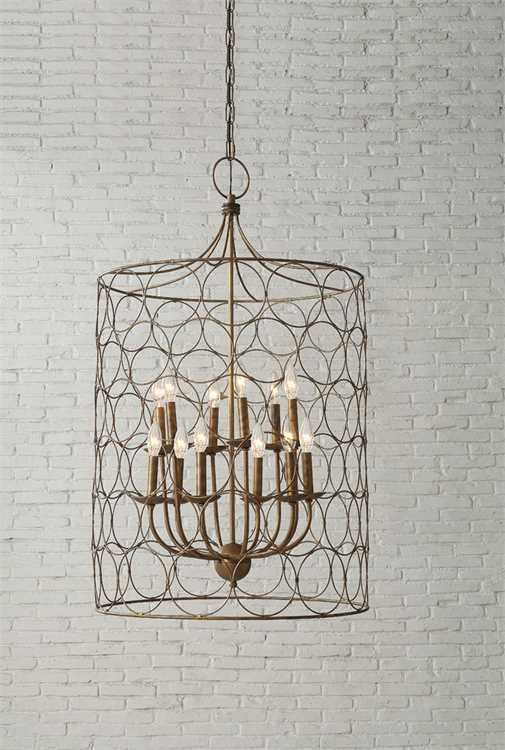 Turn of the Century meets Farmhouse Glam Circles of Gold 23  Round x 38 H Metal Chandelier with Circles Gold (40 Watt Bulb Maximum Hard Wire Only ... & Best 25+ Metal chandelier ideas on Pinterest | Tuscan homes ... azcodes.com