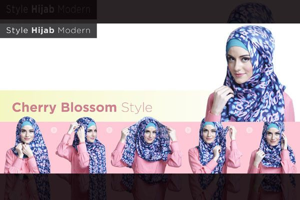 Style Hijab Modern, Cherry Blossom   Zoya - Lebih Pas Untuk Cantikmu