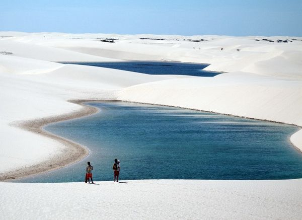 White sands-Lencois Maranhenses-This National Park Lencois Maranenses (Lencois Maranhenses), located in north-eastern Brazil in the state of Maranhao, near the town of Barreyrinyas.: Lençóis Maranhenses, Maranhen National, Buckets Lists, Favorite Places, Lençoi Maranhen, Lencoi Maranhen, National Parks, Lencois Maranhens, Lençói Maranhen