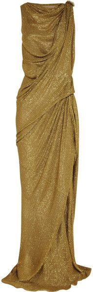 Lanvin Draped Lamé Gown in Gold (Chartreuse) hum I don't know what color id want that in. Maybe a very deep blue, or a striking red!