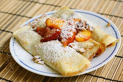 peach crepes love