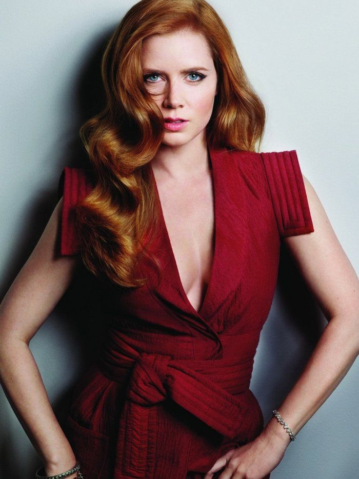 natürlich rote Haare und blaue Augen - Amy Adams
