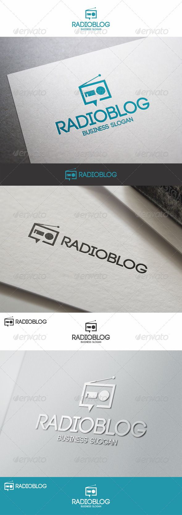 Radio Blog Logo Template – suitable for websites, radio blogs, software and applications, audio news, radio station, radio chat , blogs, radio channels, media business, entertainment, audio bloggers, radio studio, audio designers, etc.