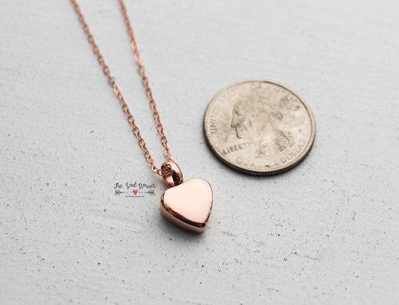 Rose Gold Cremation Urn Necklace Urn Jewelry Ash by TheSadBasset