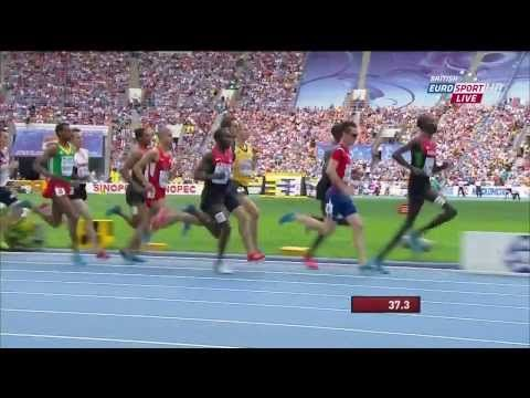 Asbel Kiprop wins 1500m Final in Style Centrowitz USA 2nd Cronje RSA 3rd World Champs #games - YouTube