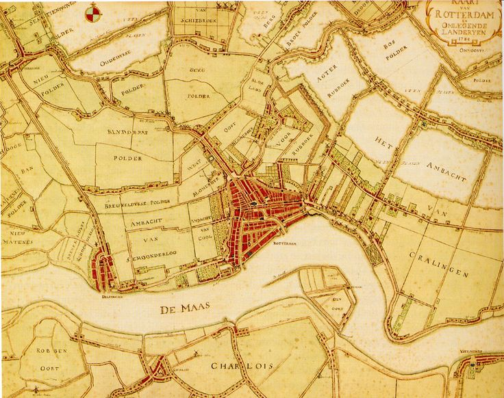Kaart van Rotterdam 1784 (map)
