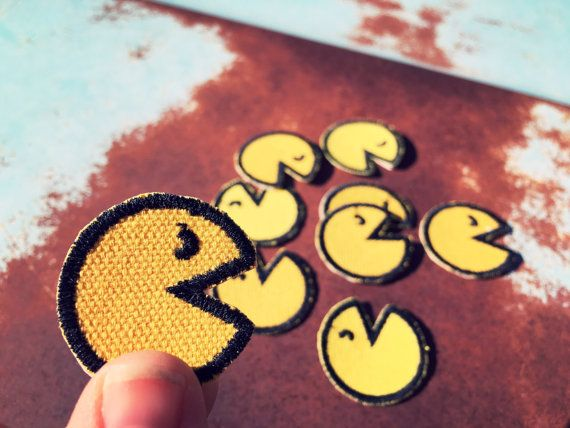 Pac-Man Mini Custom Embroidered Patches