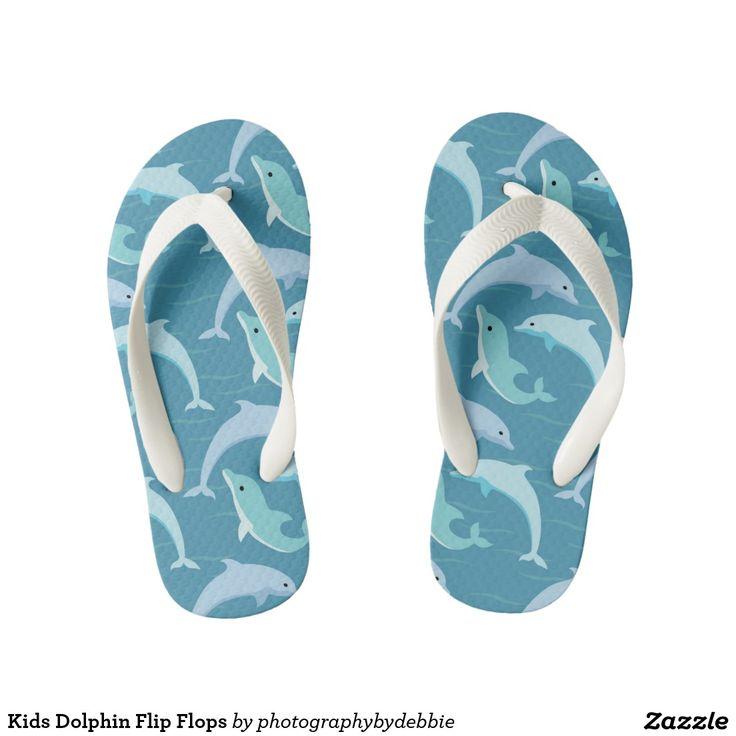 Kids Dolphin Flip Flops