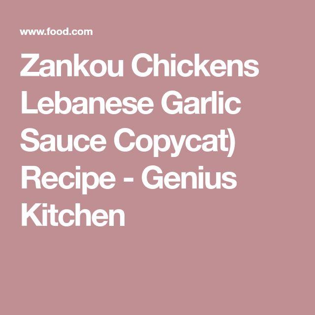 Zankou Chickens Lebanese Garlic Sauce Copycat) Recipe - Genius Kitchen