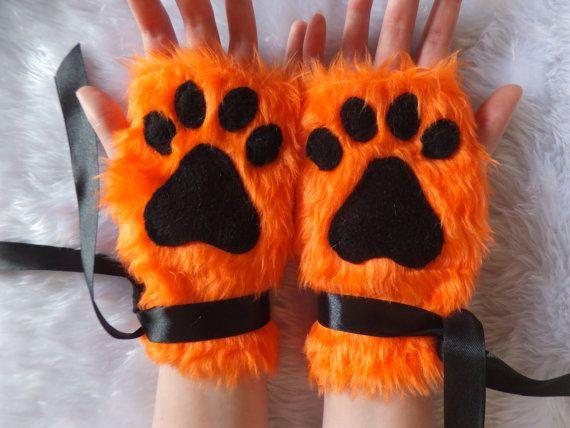 Cute Ginger Orange Furry Wolf Fox Dog Neko Cat by KittenTreasures