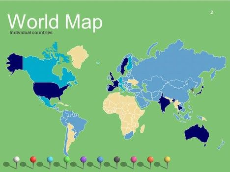 9 best geography images on pinterest physical geography students world maps vector editable updated powerpoint template slide2 gumiabroncs Gallery