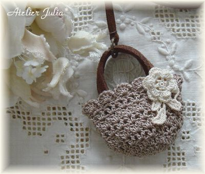 crochet mini purse