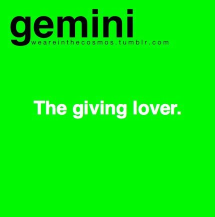 gemini facts // The giving lover // me // identify \\ twins