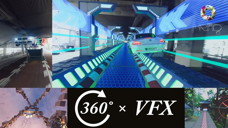 【360度動画】 360° VR 映像 × CG合成 体験デモ (+Ring制作 VFX映像 3作品)