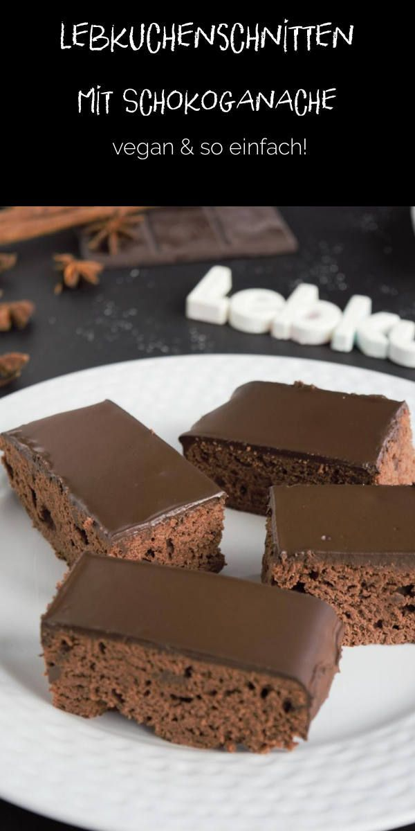 Gingerbread slices with chocolate ganache – zuckerfreie Rezepte