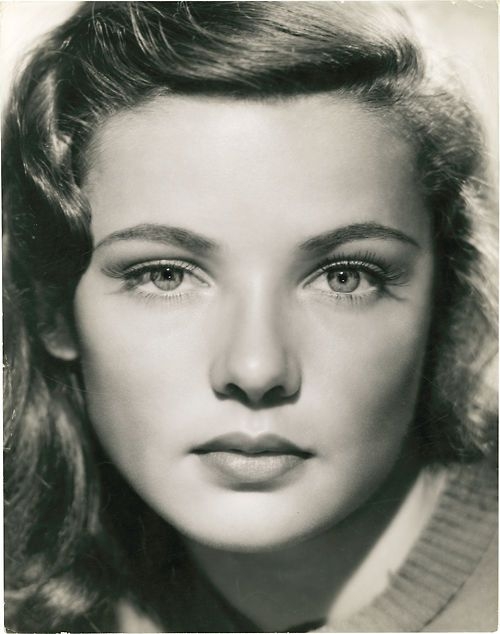 Gene Tierney - star of the movie Laura which I was named after.  My mom loved the movie, the song and I think she was hoping I'd look like Ms. Tierney - lol