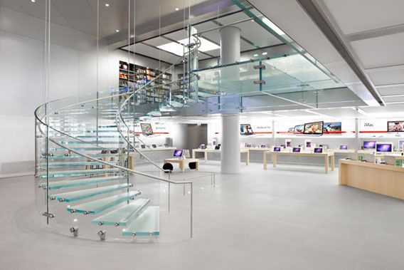 Apple Store staircase design, Steve Jobs once asked for a staircase that seemed to float on air