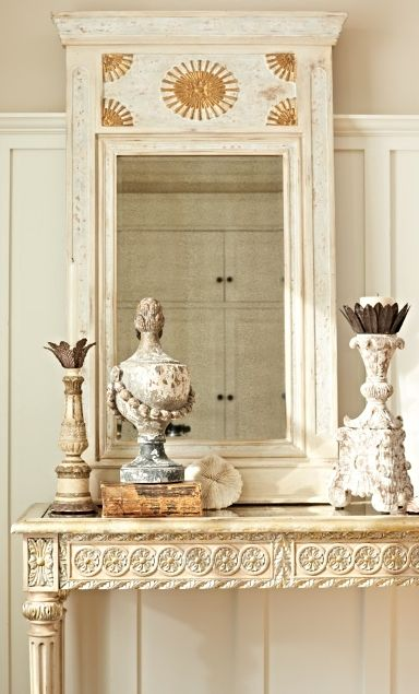 Prolifically detailed, our exclusive Evelina Carved Console is an objet d'art for everyday enjoyment. | Frontgate Interiors