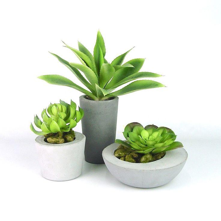 Concrete succulent planters available now at www.ifoundlove.com.au   (http://www.ifoundlove.com.au/concrete-pot-set-grey/)