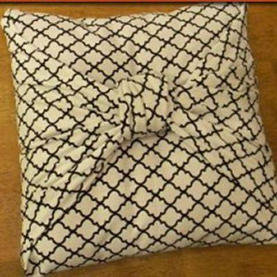 DIY No Sew Pillow Cover Tutorial