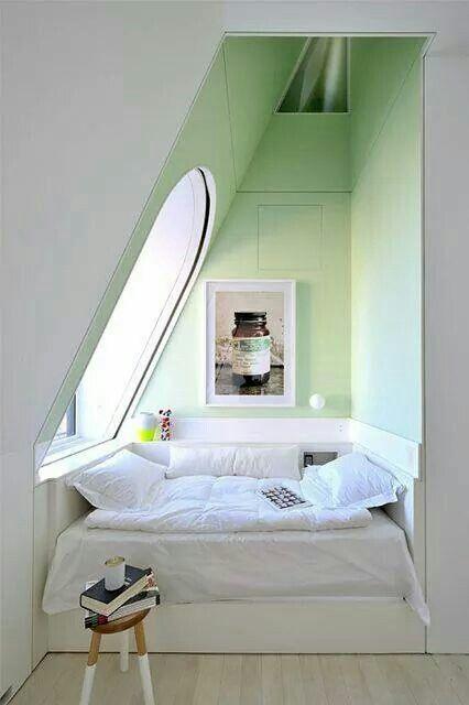 Dit is ideaal voor een kleine slaapkamer!