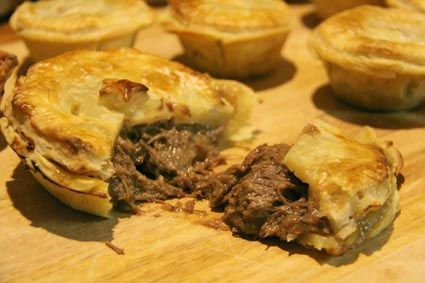 Aussie meat pie.  Want to learn to make a variety of mini meat pies to freeze and eat