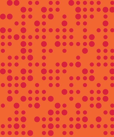 Formica Patterns, Midi Mode Blaze Red on Clementine