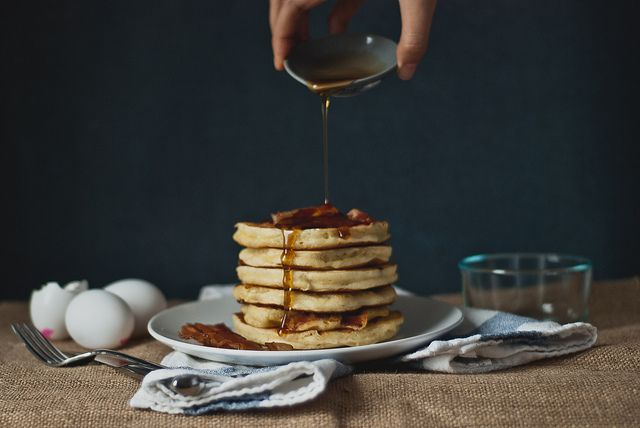 "Bacon ""Buttermilk"" Pancakes by Two Red Bowls, via Flickr"