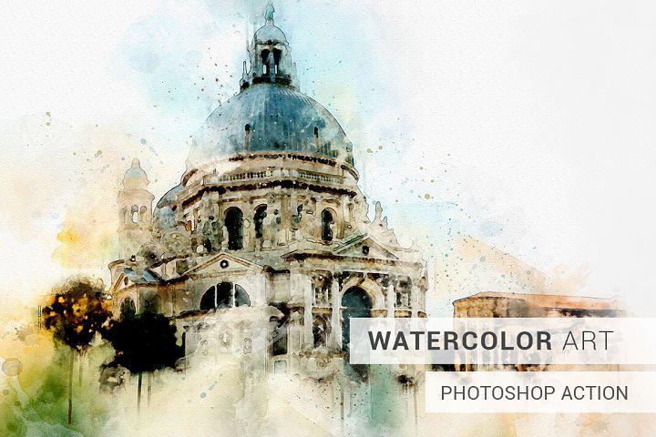 Watercolor Photoshop Action Illustration Technique Watercolor