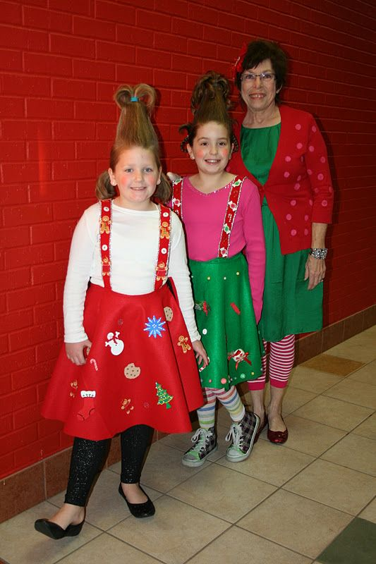 grinch Whoville costume homemade | Whoville Costume Hair All of the children came in