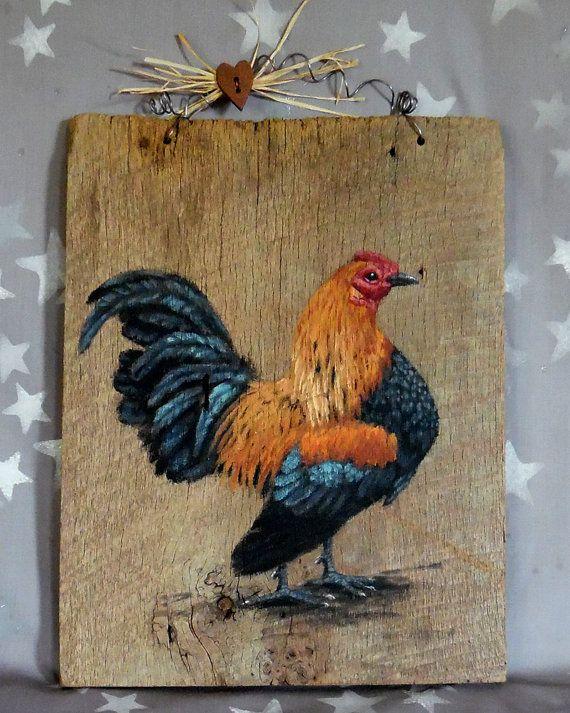 Vecchio inglese gioco Rooster pollame da cortile rustico