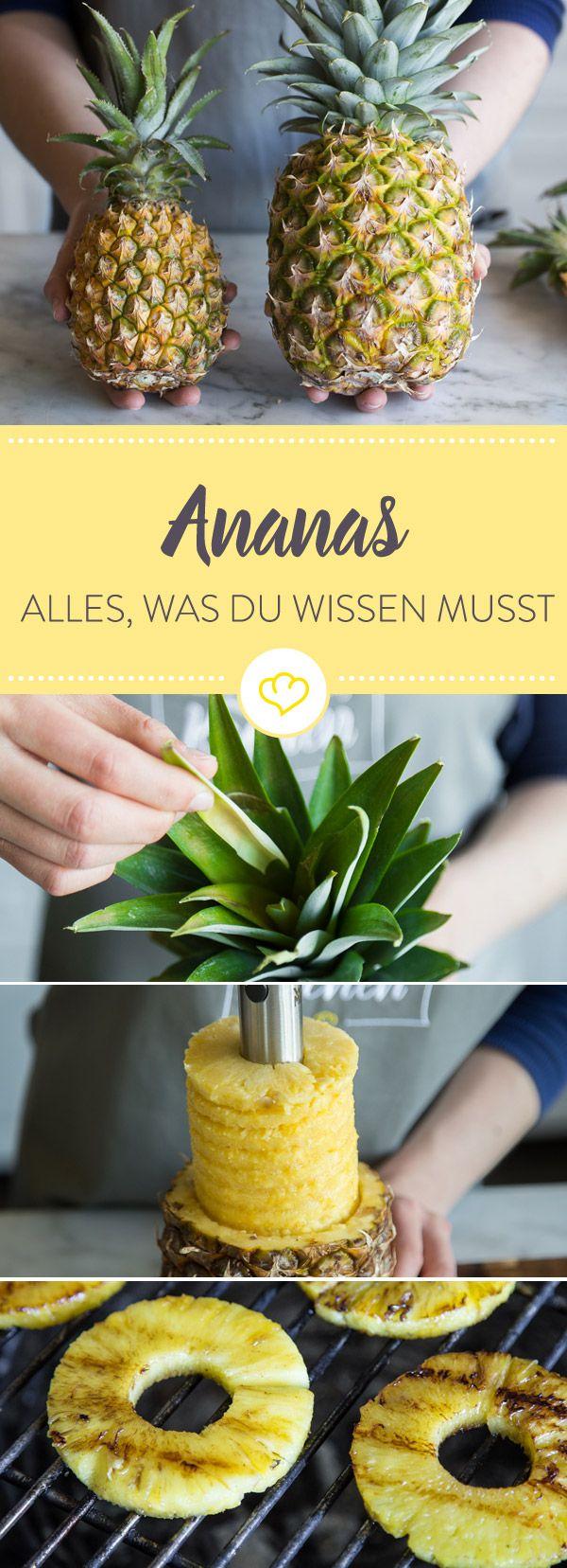 Ananas ist nicht nur aromatisch-süß, sondern auch kalorienarm und voller wichtiger Nährstoffe. Hier erfährst du Wissenswertes rund um die beliebte Südfucht.