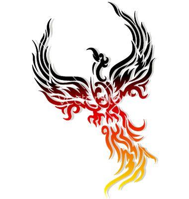 Mythical phoenix bird vector
