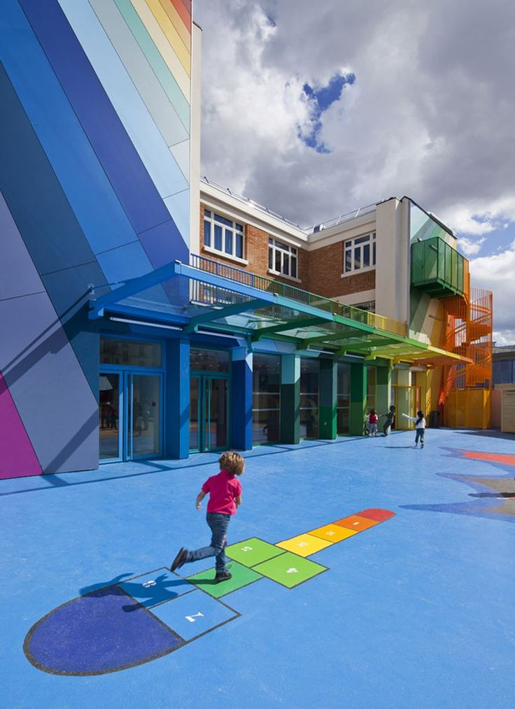 École Maternelle Pajol - Picture gallery #architecture #interiordesign #colours…