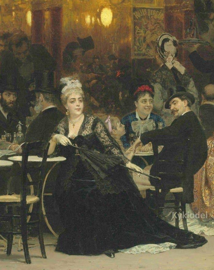 Ilya Repin | A Parisian Cafe / Un caffè Parigino, 1875 | Tutt'Art@ | Pittura…