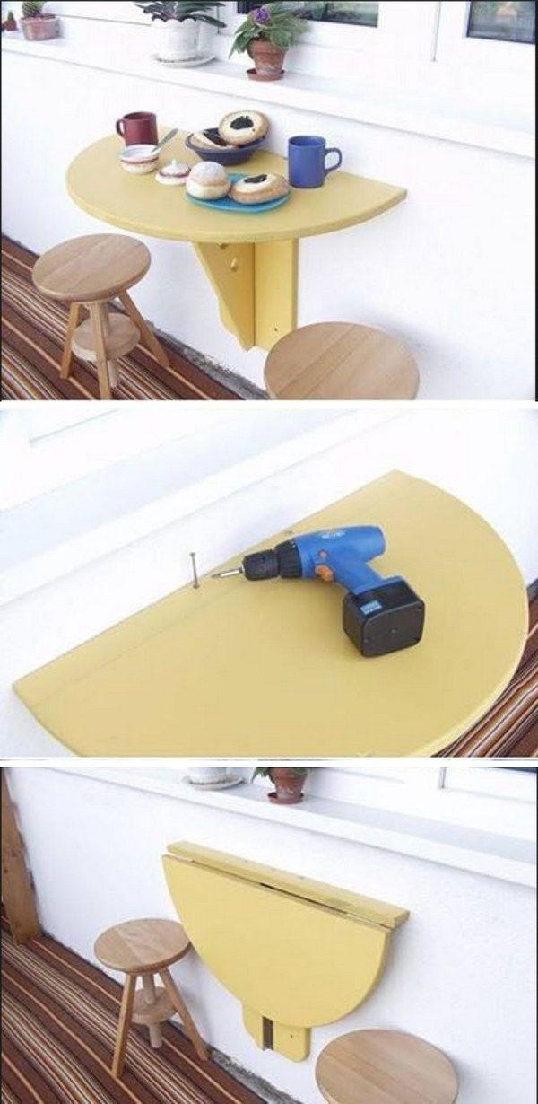 DIY Balcony Folding Table.