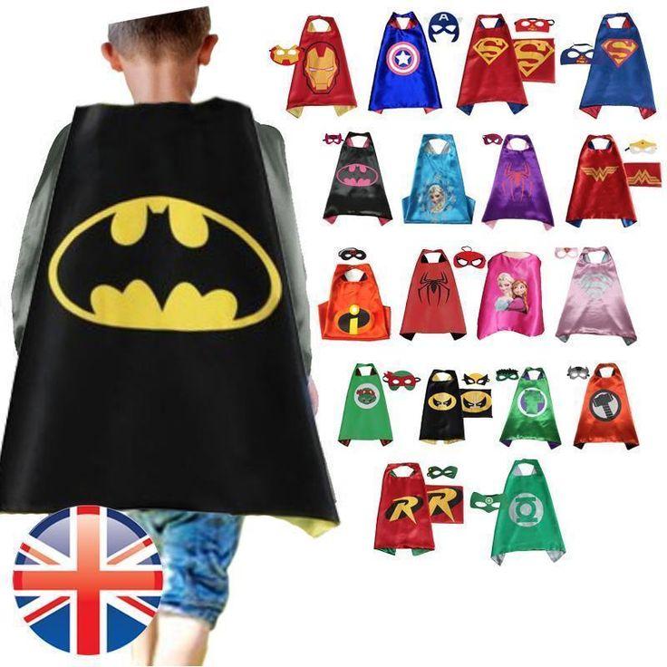 Children kids #superhero #fancy dress #costume cape mask boys girls #fancy dress u,  View more on the LINK: http://www.zeppy.io/product/gb/2/182259247807/