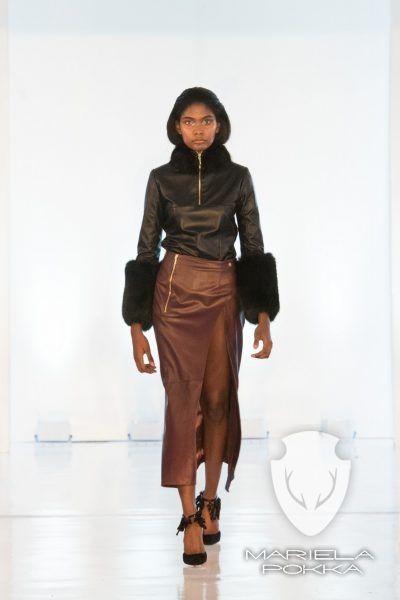 Split Reindeer Leather Malva Skirt