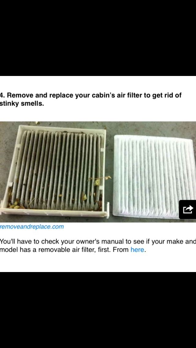 Clean car air filter