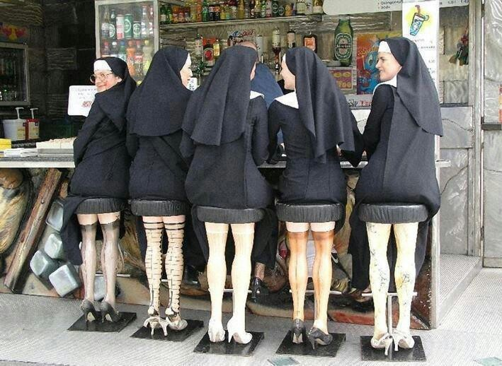Recycled mannequin legs converted into stools!