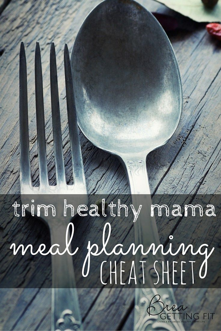 The Trim Healthy Mama Meal Plan Cheat Sheet - Good for beginners to help you understand the basics.