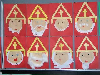 Sinterklaas platte vlak knutselen