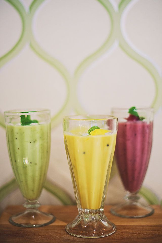 Tropical breakfast smoothie range