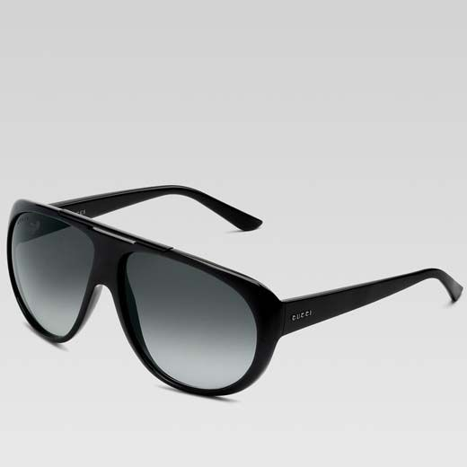 Gucci Sunglasses for Men | Gucci men's black large aviator sunglasses | Men's Accessories