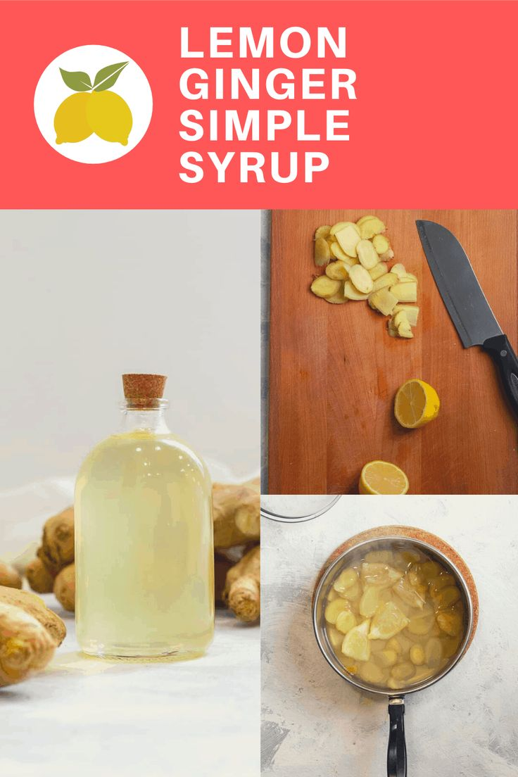 Ginger Simple Syrup Recipe in 2020 Simple syrup, Mint